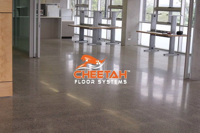 Lunchroom Concrete Floor Polished in Strongsville, OH