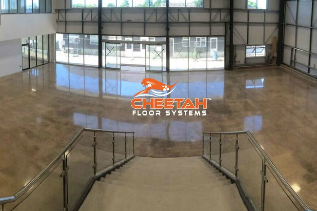 Commercial building lobby floors mechanically polished in Cleveland, OH