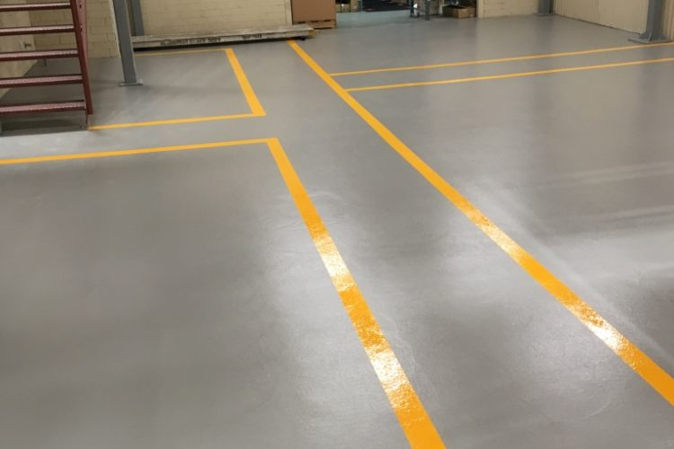 Warehouse Floor Striping and Line Marking Services in Cleveland, OH - Cheetah Floor Systems, Inc.